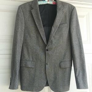 Hugo Boss Stretch Gray Wool Blazer